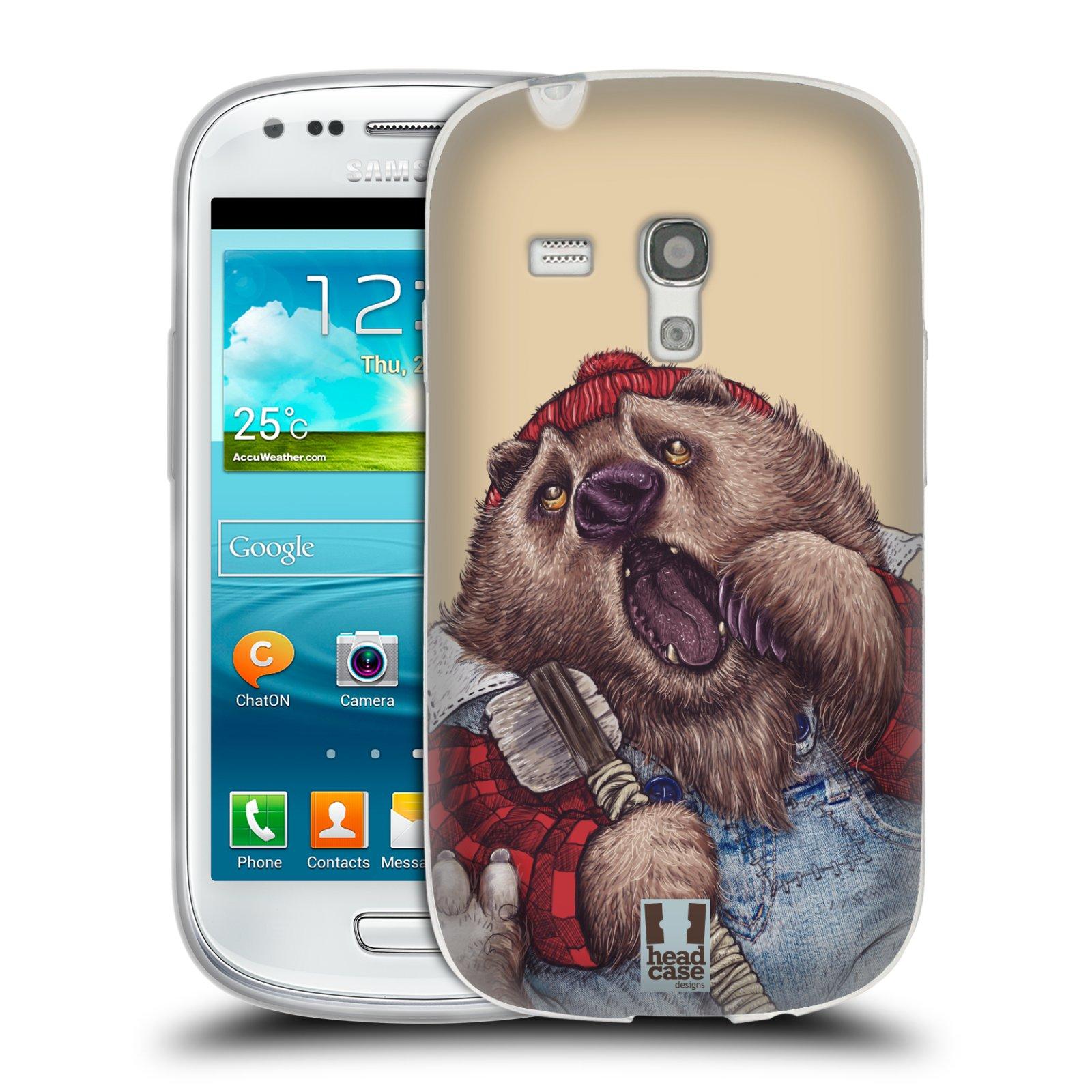 HEAD CASE silikonový obal na mobil Samsung Galaxy S3 MINI i8190 vzor Kreslená zvířátka medvěd