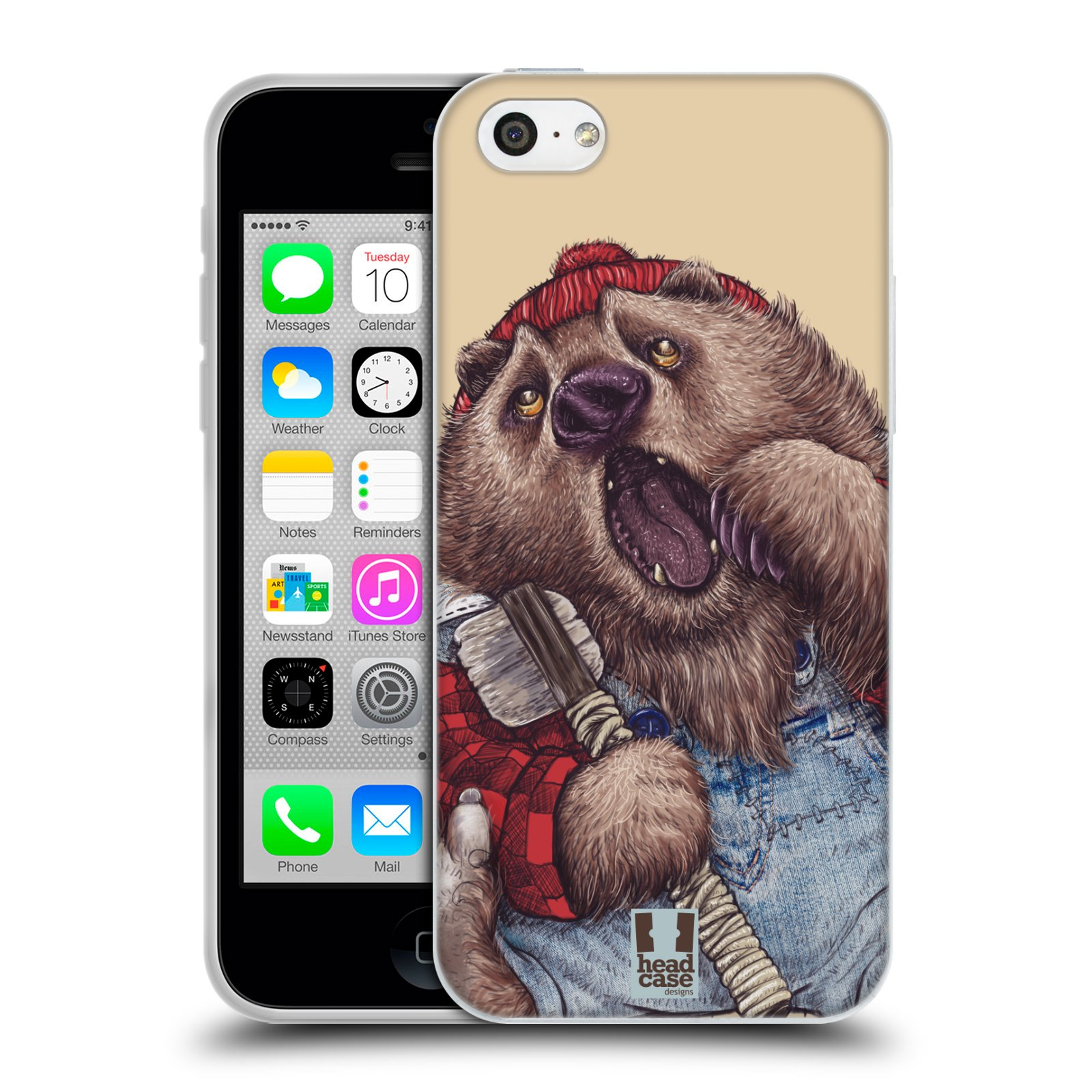 HEAD CASE silikonový obal na mobil Apple Iphone 5C vzor Kreslená zvířátka medvěd