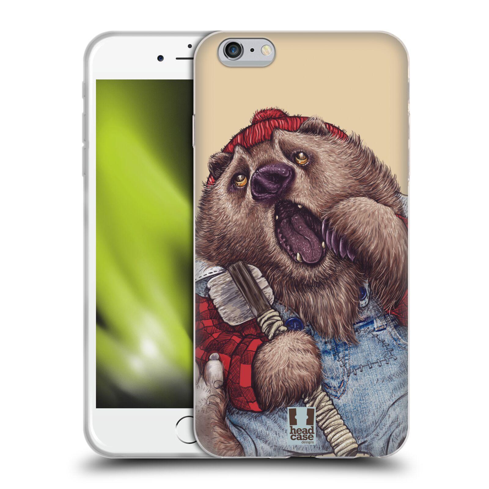 HEAD CASE silikonový obal na mobil Apple Iphone 6 PLUS/ 6S PLUS vzor Kreslená zvířátka medvěd