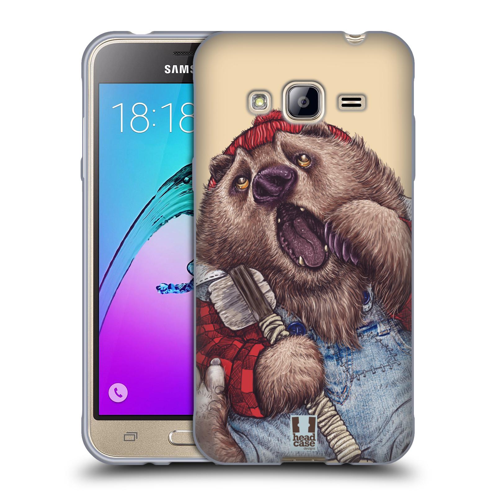 HEAD CASE silikonový obal na mobil Samsung Galaxy J3, J3 2016 vzor Kreslená zvířátka medvěd