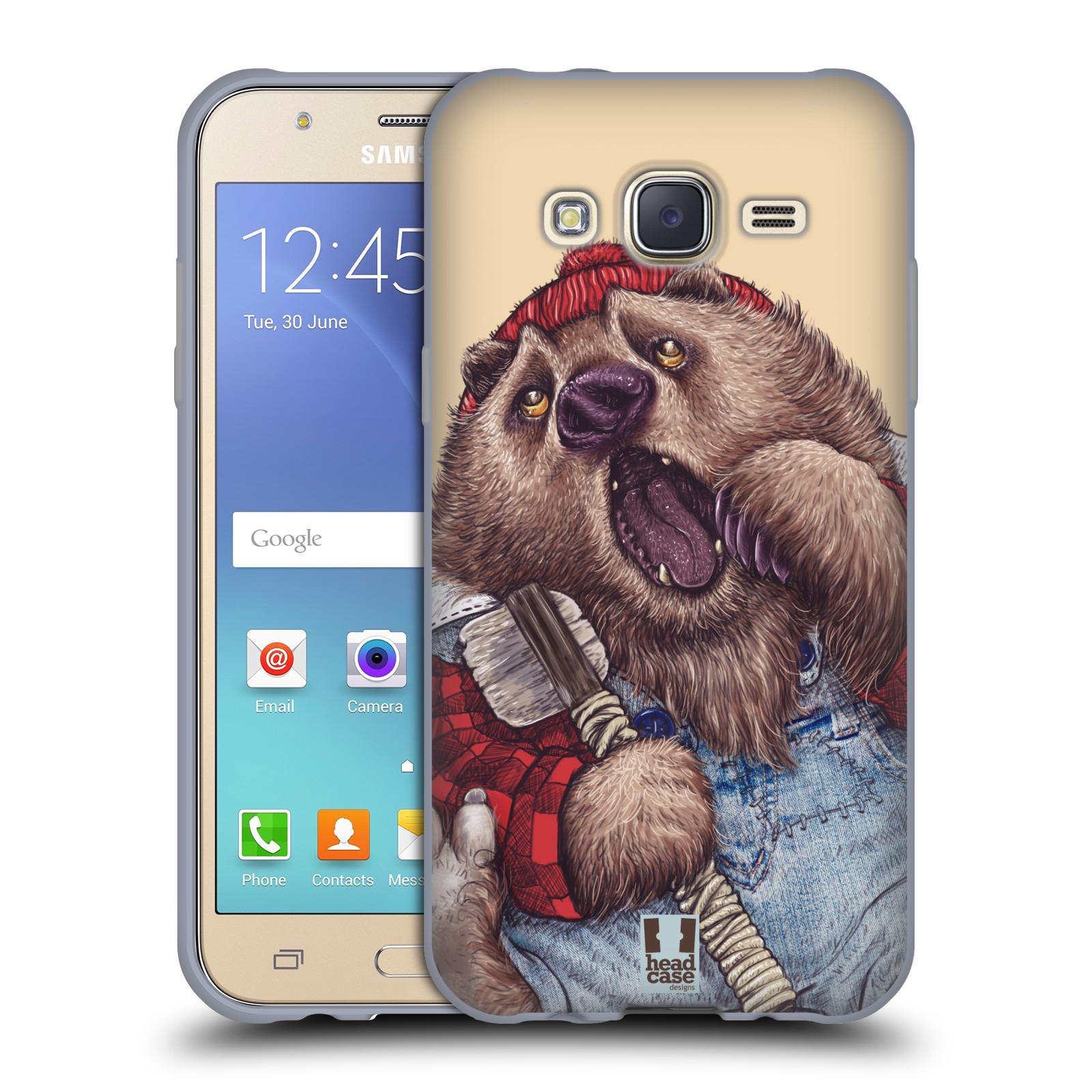 HEAD CASE silikonový obal na mobil Samsung Galaxy J5, J500, (J5 DUOS) vzor Kreslená zvířátka medvěd