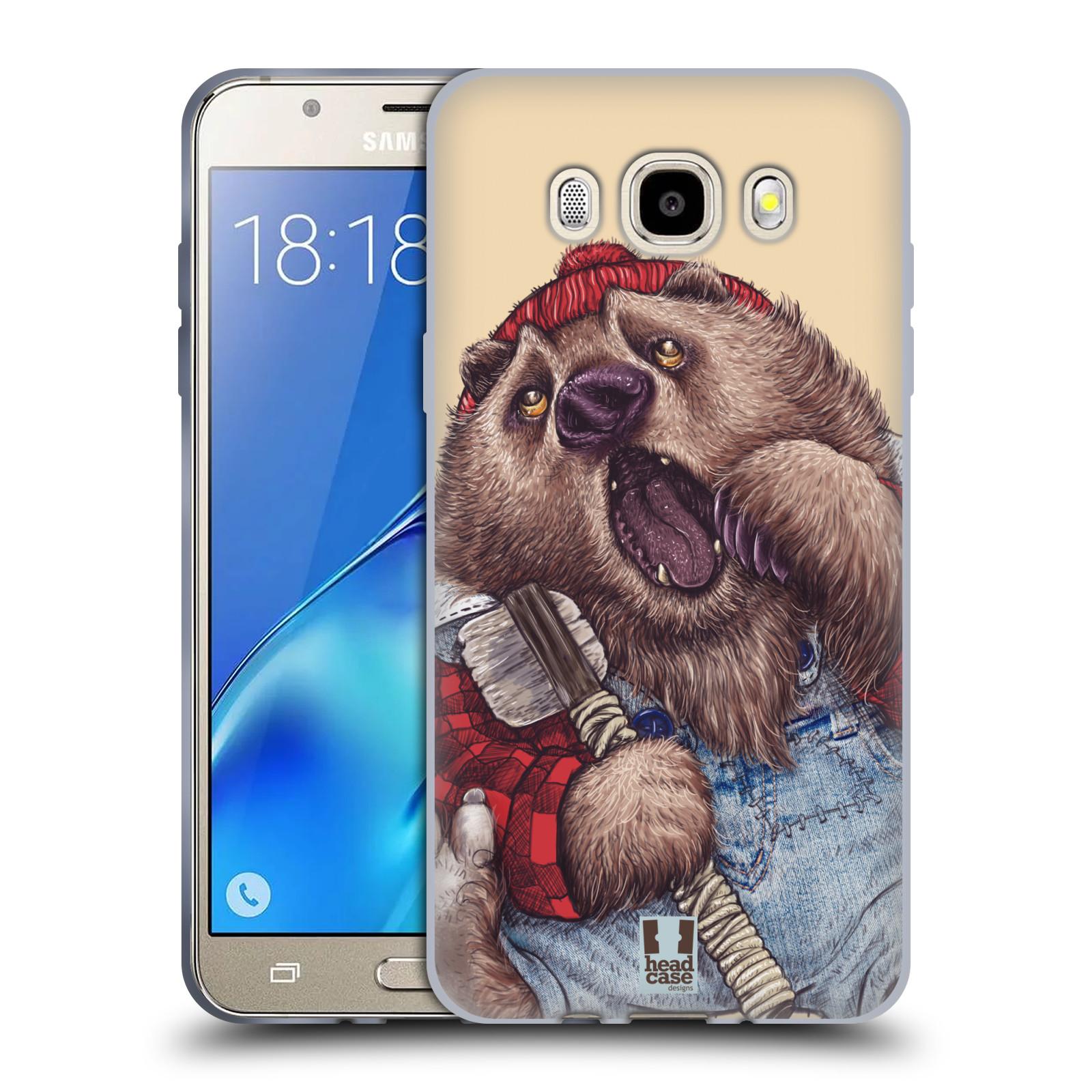 HEAD CASE silikonový obal, kryt na mobil Samsung Galaxy J5 2016, J510, J510F, (J510F DUAL SIM) vzor Kreslená zvířátka medvěd