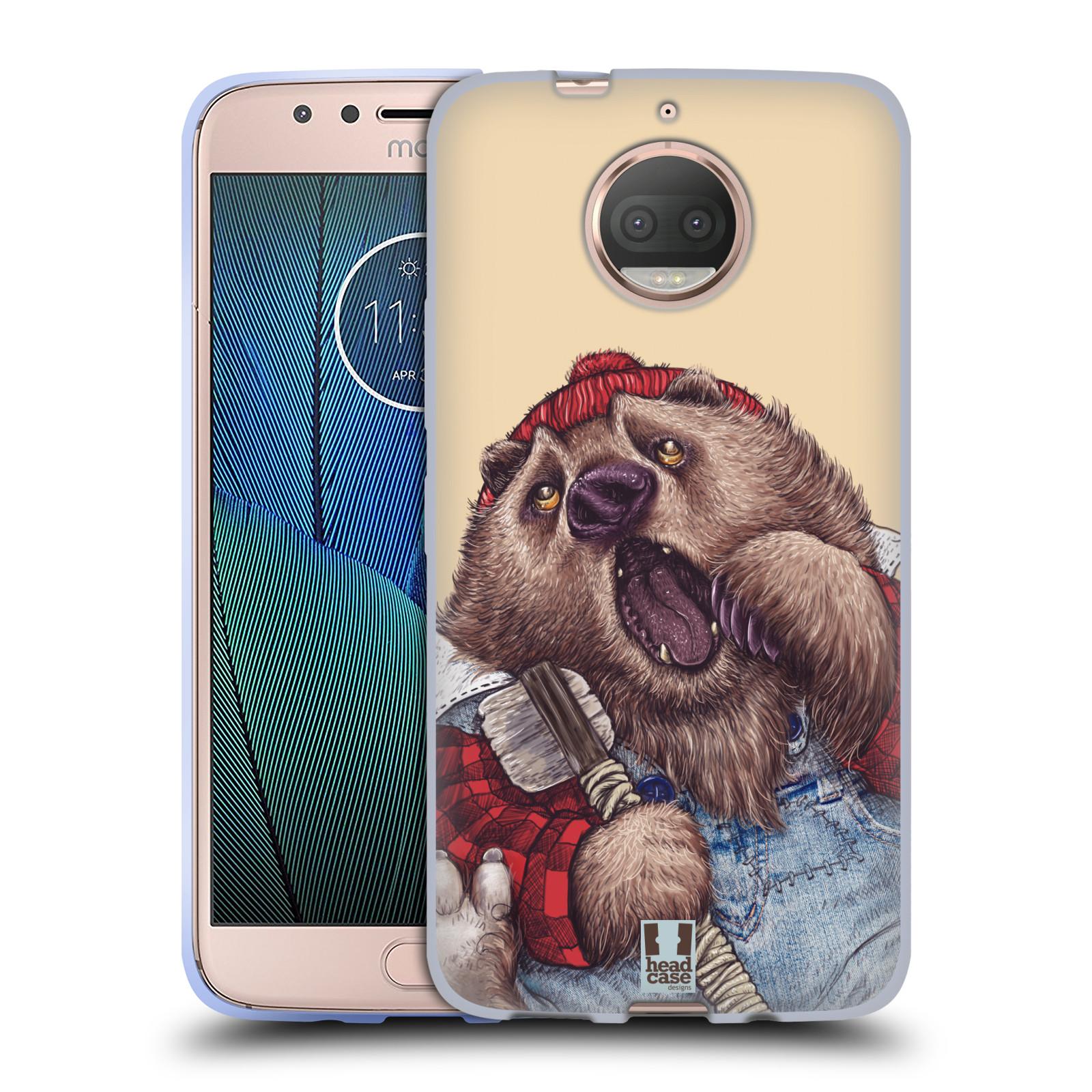 HEAD CASE silikonový obal na mobil Lenovo Moto G5s PLUS vzor Kreslená zvířátka medvěd