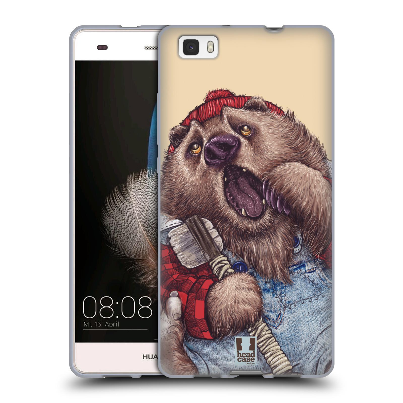 HEAD CASE silikonový obal na mobil HUAWEI P8 LITE vzor Kreslená zvířátka medvěd