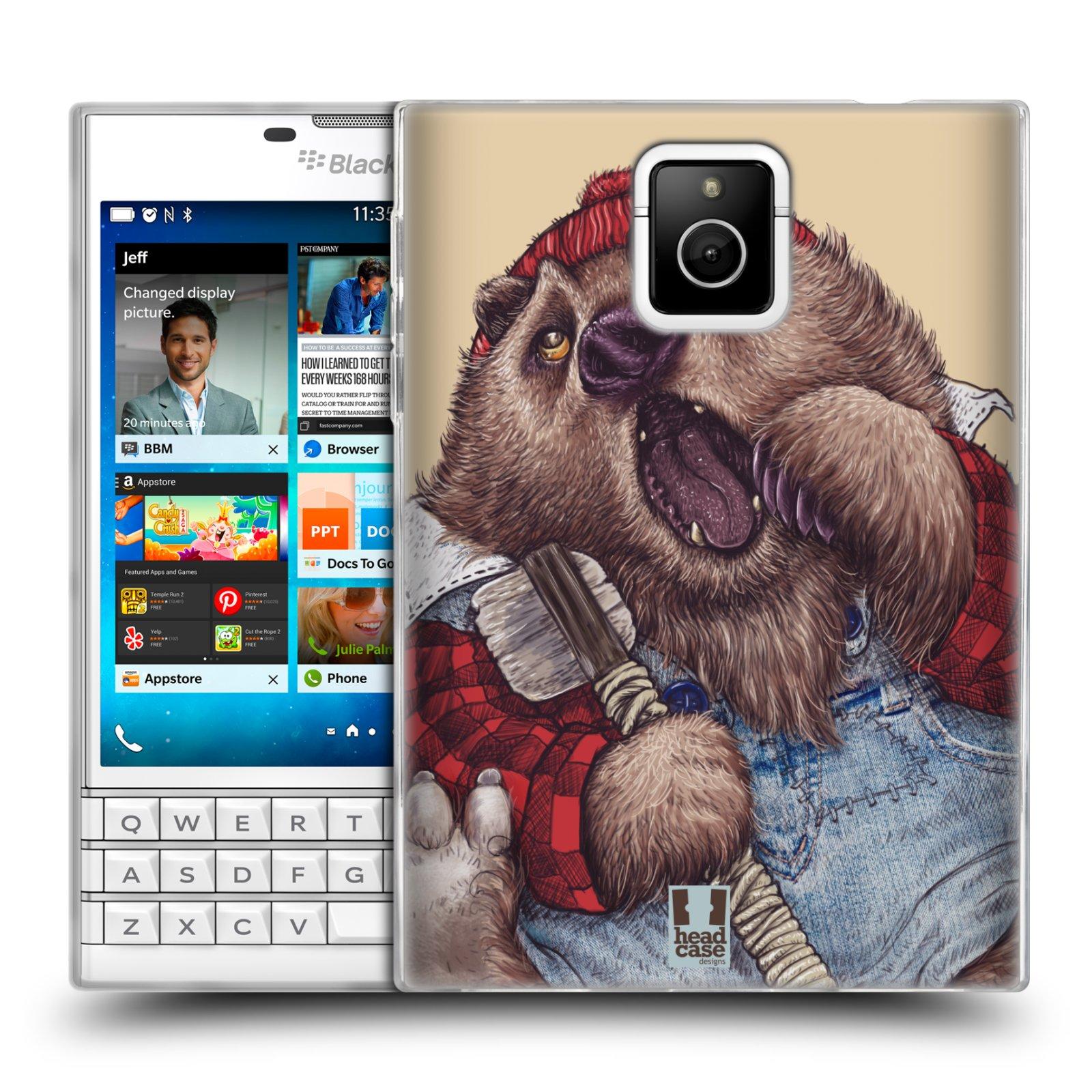 HEAD CASE silikonový obal na mobil Blackberry PASSPORT vzor Kreslená zvířátka medvěd