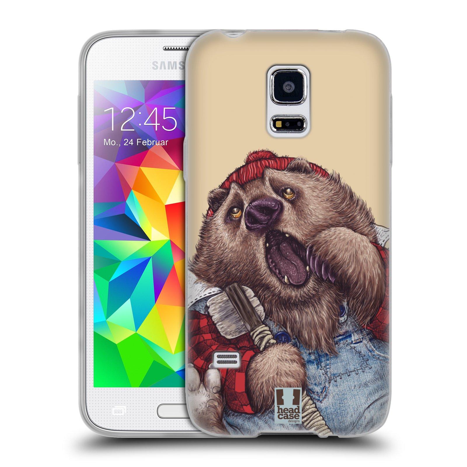 HEAD CASE silikonový obal na mobil Samsung Galaxy S5 MINI vzor Kreslená zvířátka medvěd