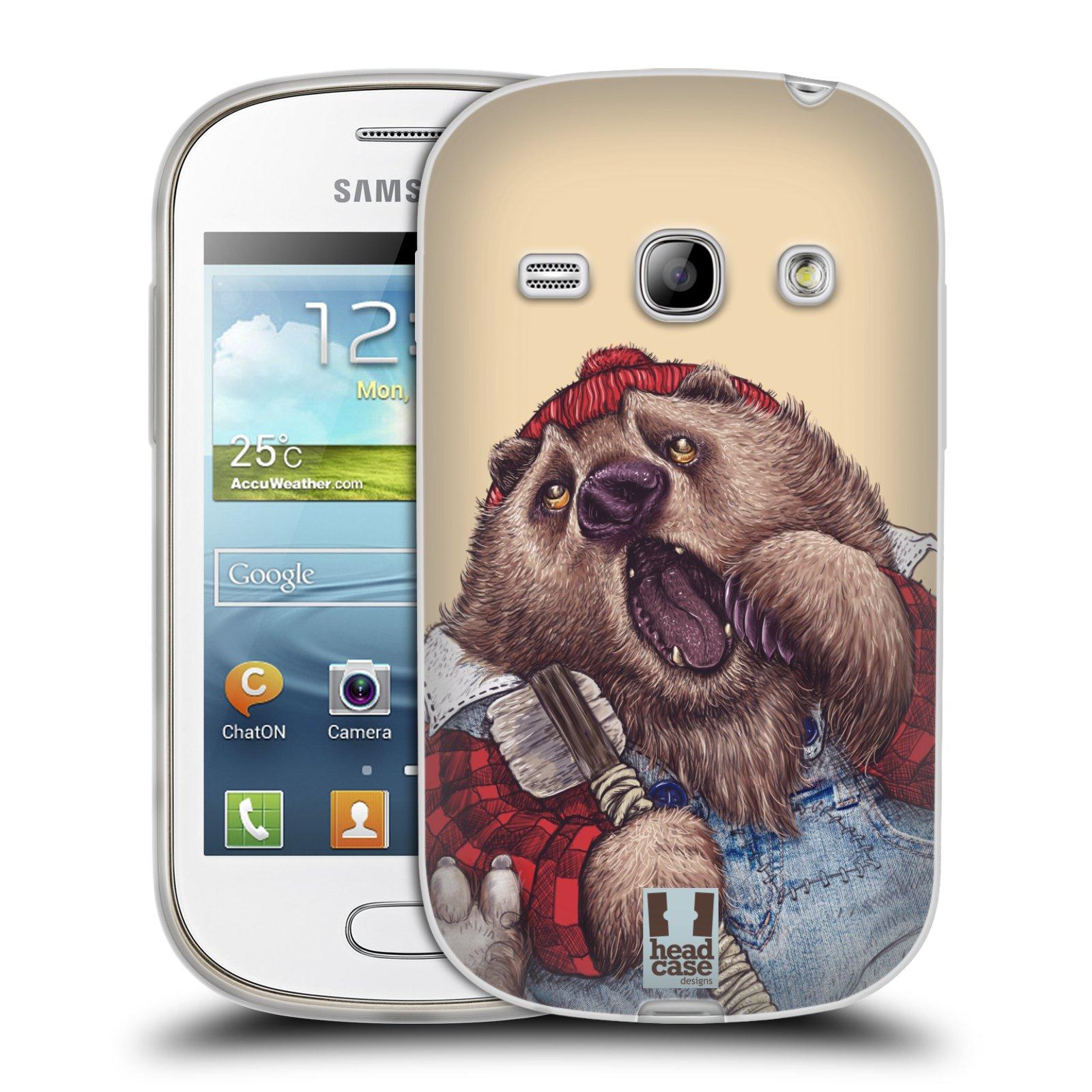 HEAD CASE silikonový obal na mobil Samsung Galaxy FAME vzor Kreslená zvířátka medvěd