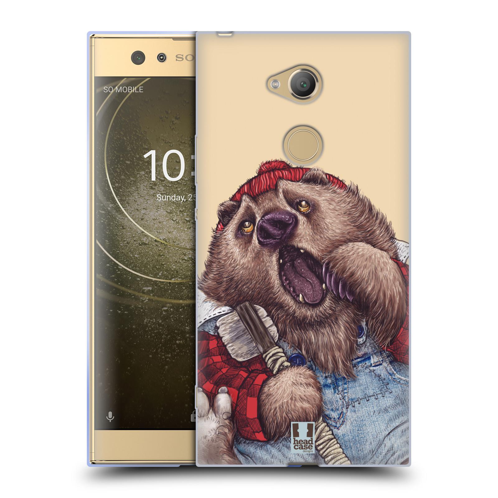 Pouzdro na mobil Sony Xperia XA2 Ultra vzor Kreslená zvířátka medvěd