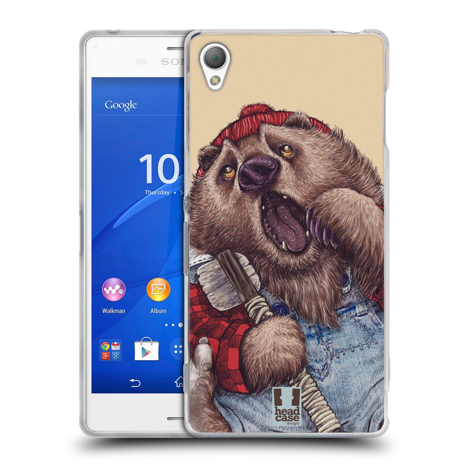HEAD CASE silikonový obal na mobil Sony Xperia Z3 vzor Kreslená zvířátka medvěd