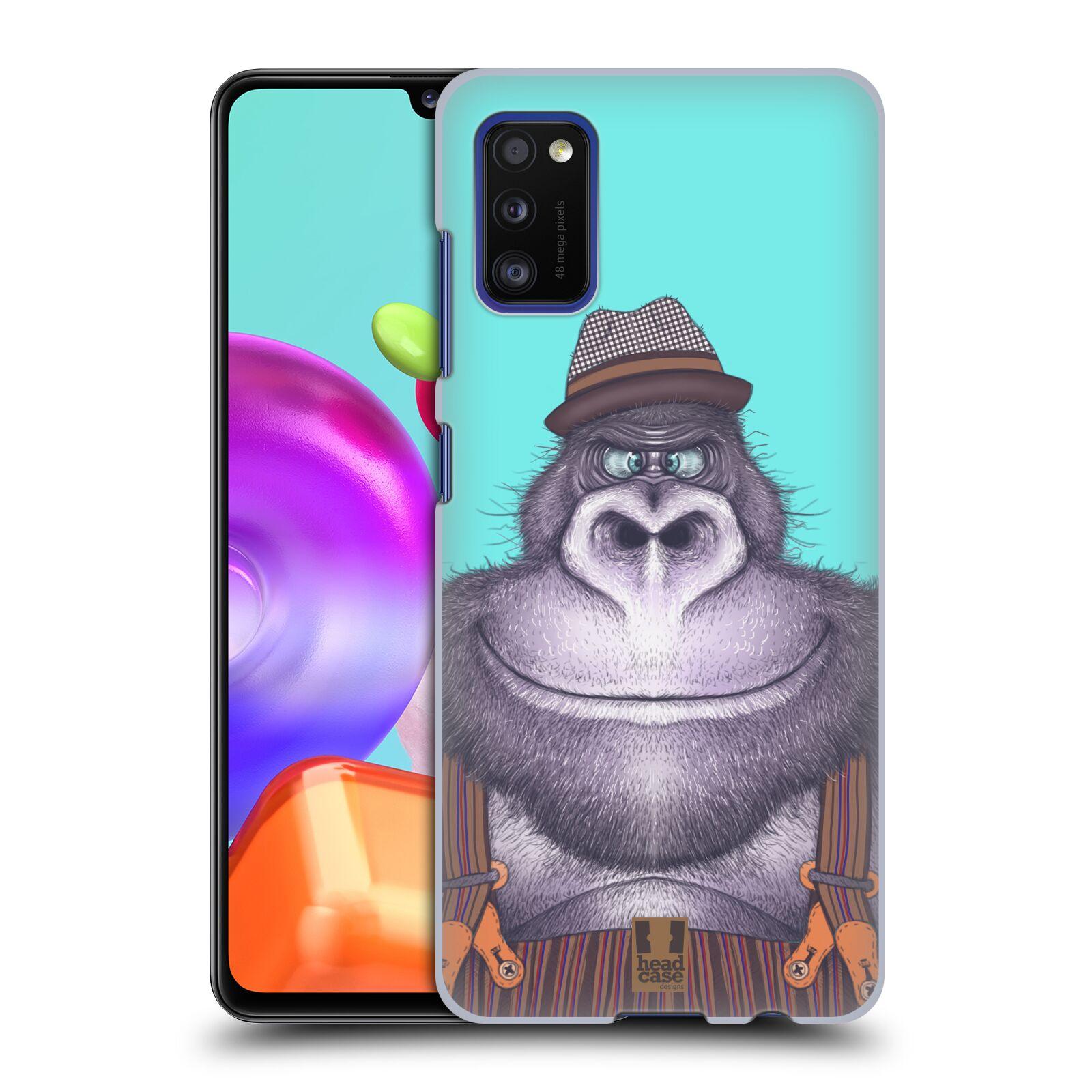 Zadní kryt na mobil Samsung Galaxy A41 vzor Kreslená zvířátka gorila