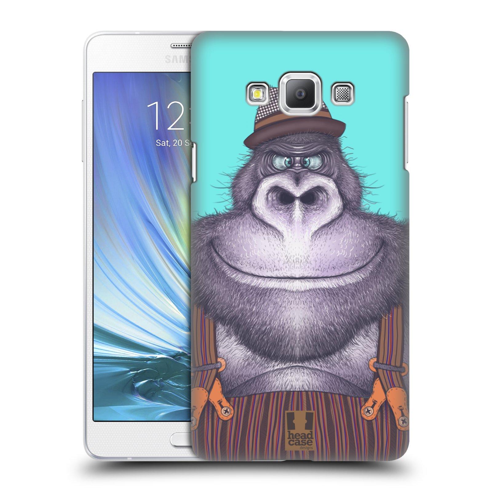 HEAD CASE plastový obal na mobil SAMSUNG GALAXY A7 vzor Kreslená zvířátka gorila