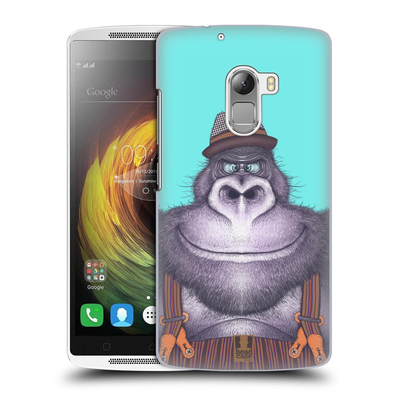 HEAD CASE pevný plastový obal na mobil LENOVO A7010 / A7010 DUAL / K4 Note / Vibe X3 lite vzor Kreslená zvířátka gorila
