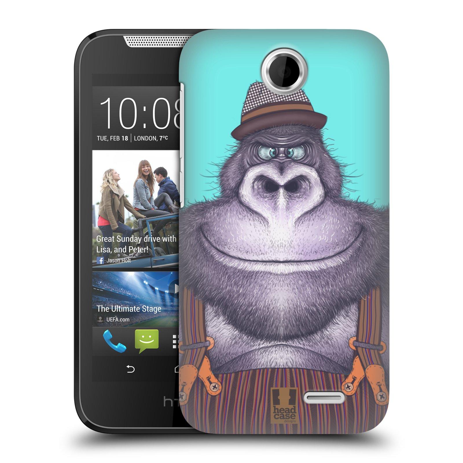HEAD CASE plastový obal na mobil HTC Desire 310 vzor Kreslená zvířátka gorila
