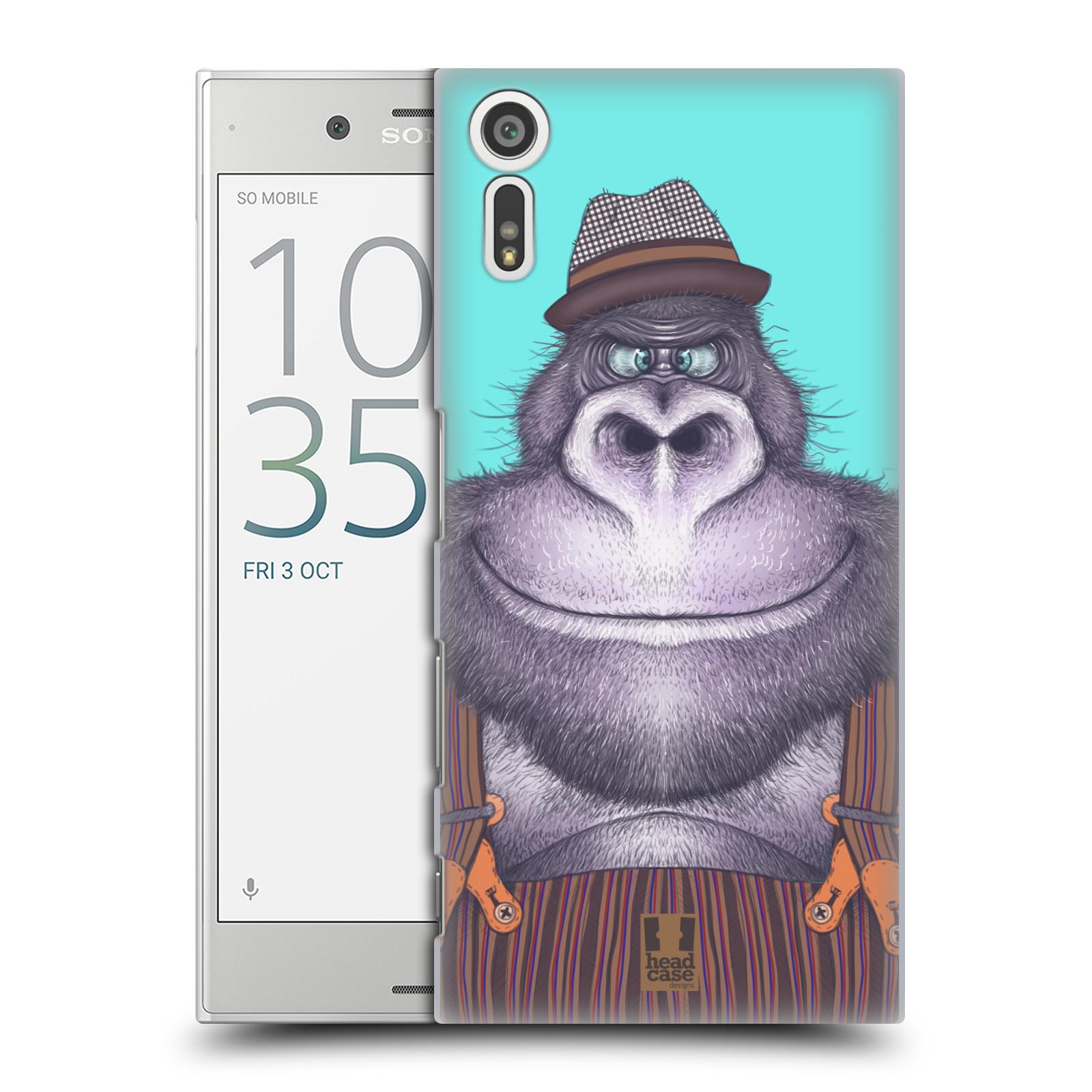 HEAD CASE plastový obal na mobil Sony Xperia XZ vzor Kreslená zvířátka gorila