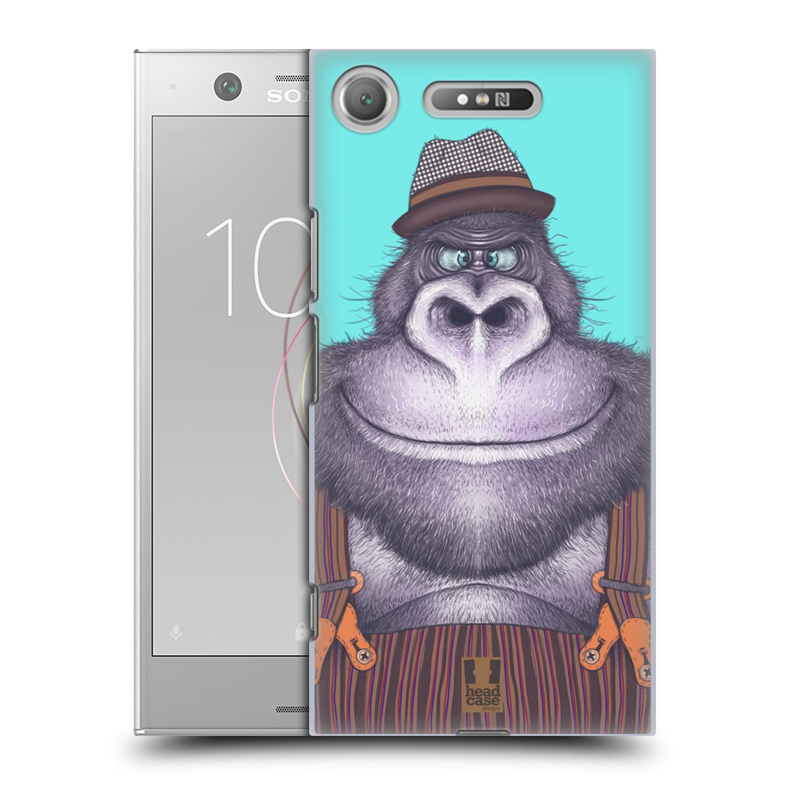 HEAD CASE plastový obal na mobil Sony Xperia XZ1 vzor Kreslená zvířátka gorila