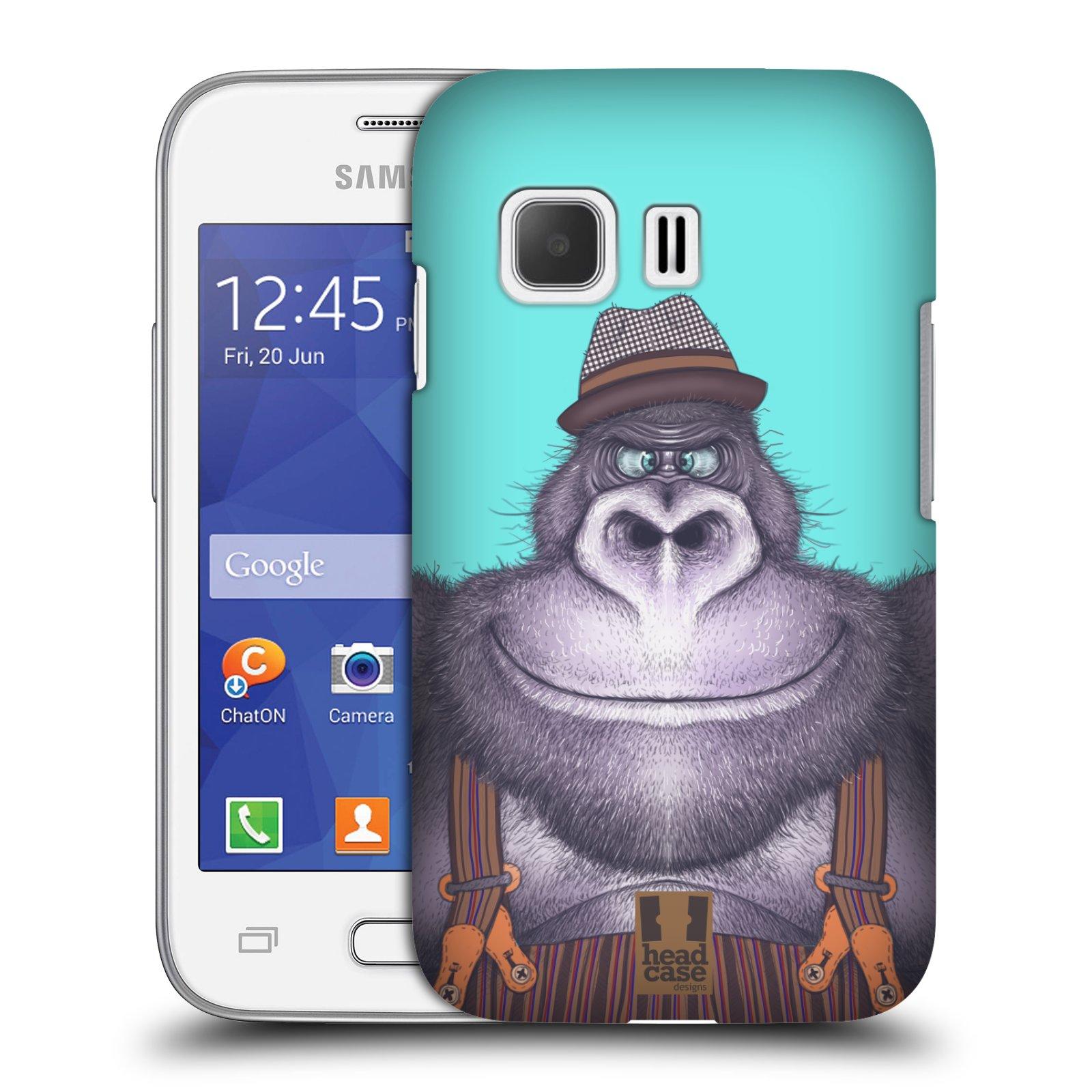 HEAD CASE plastový obal na mobil SAMSUNG Galaxy Young 2 (G130) vzor Kreslená zvířátka gorila