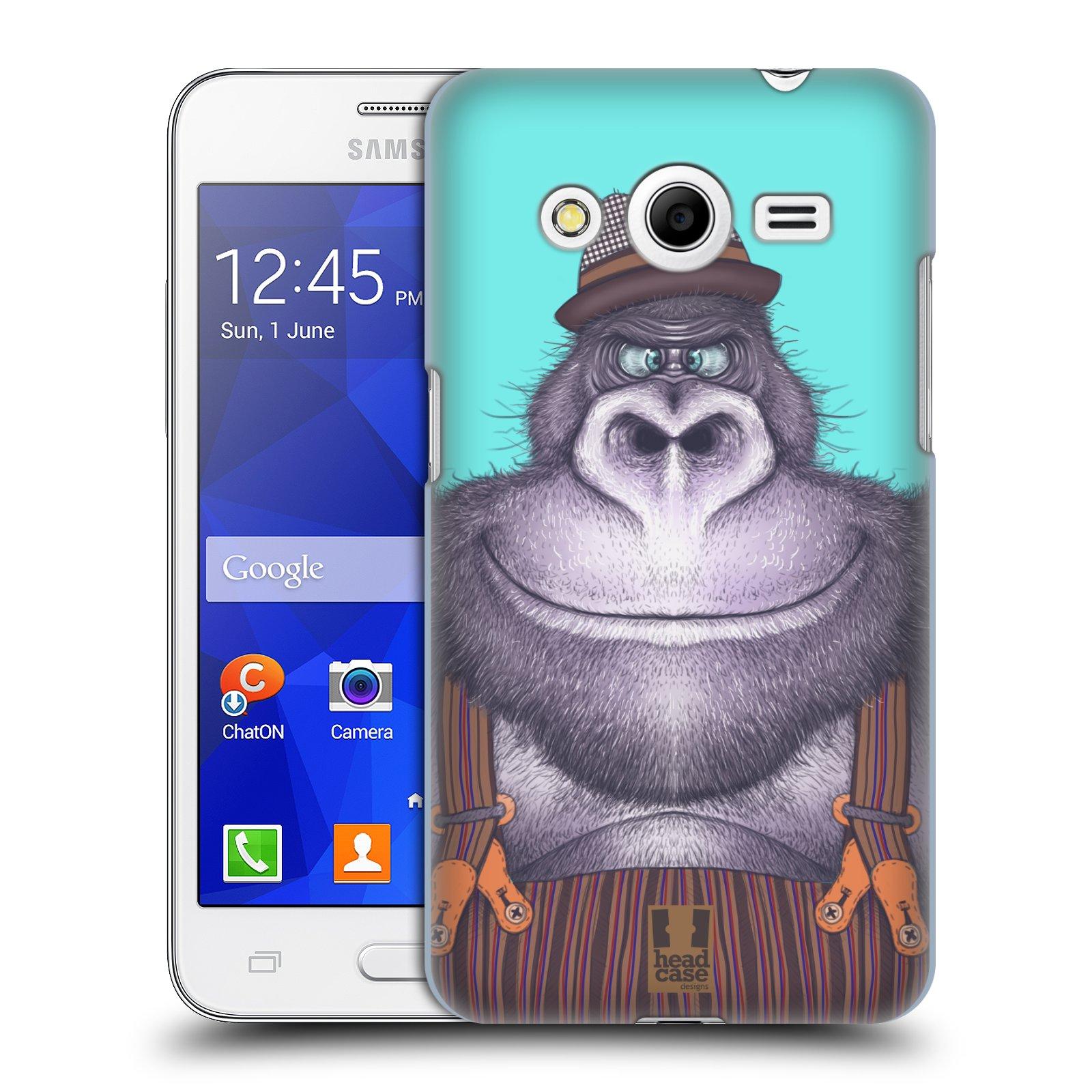 HEAD CASE plastový obal na mobil SAMSUNG GALAXY Core 2 (G355H) vzor Kreslená zvířátka gorila