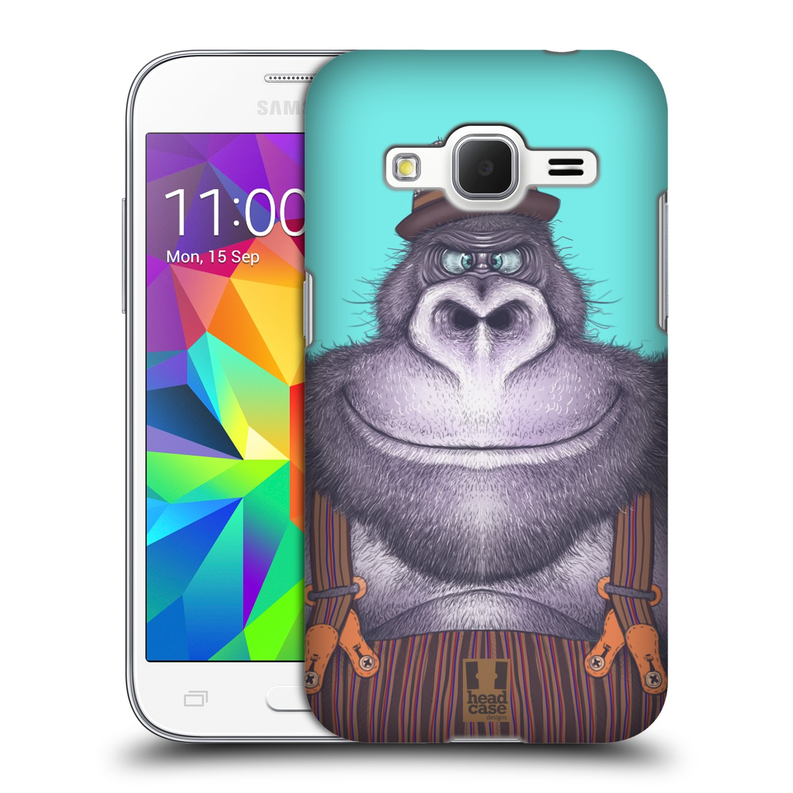 HEAD CASE plastový obal na mobil SAMSUNG GALAXY Core Prime (Core Prime VE) vzor Kreslená zvířátka gorila