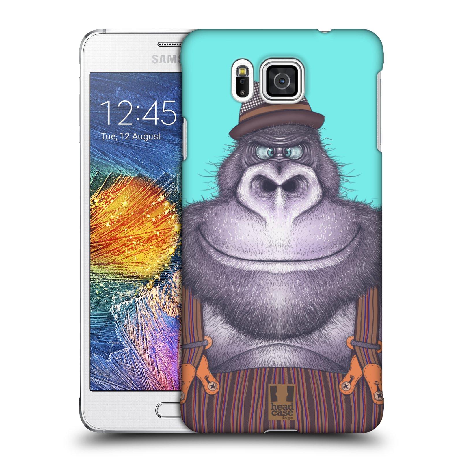 HEAD CASE plastový obal na mobil SAMSUNG Galaxy Alpha (G850) vzor Kreslená zvířátka gorila