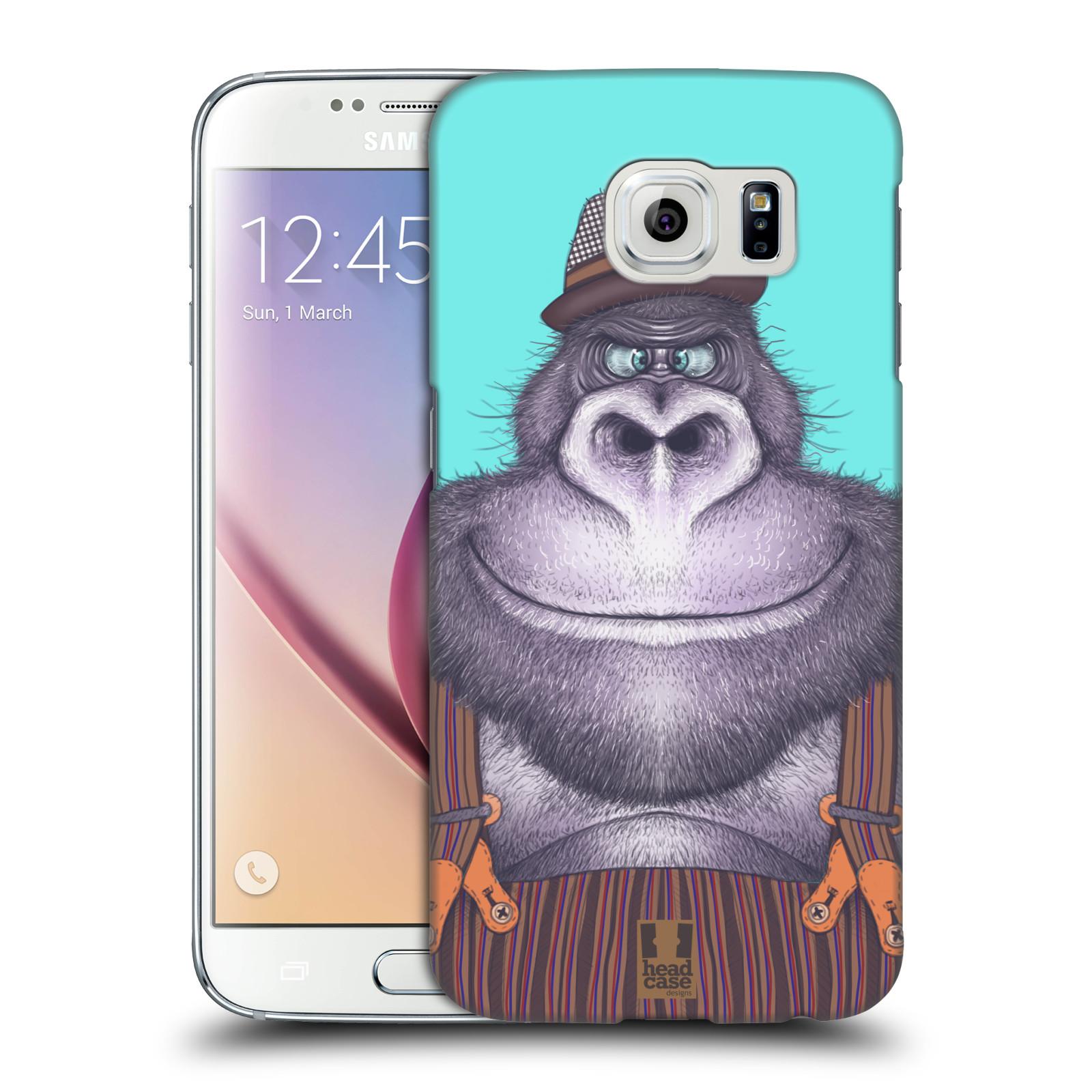 HEAD CASE plastový obal na mobil SAMSUNG Galaxy S6 (G9200, G920F) vzor Kreslená zvířátka gorila