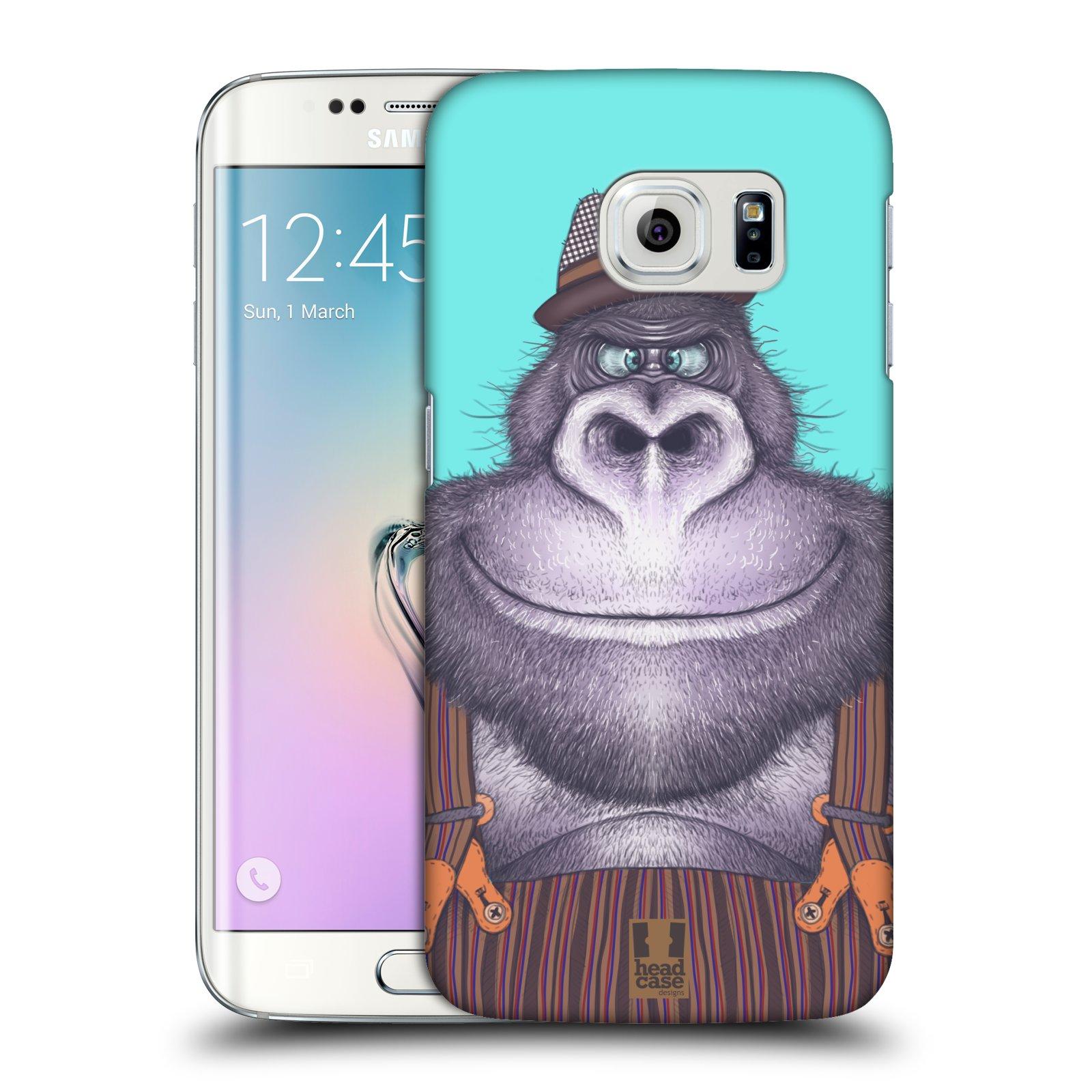 HEAD CASE plastový obal na mobil SAMSUNG Galaxy S6 EDGE (G9250, G925, G925F) vzor Kreslená zvířátka gorila