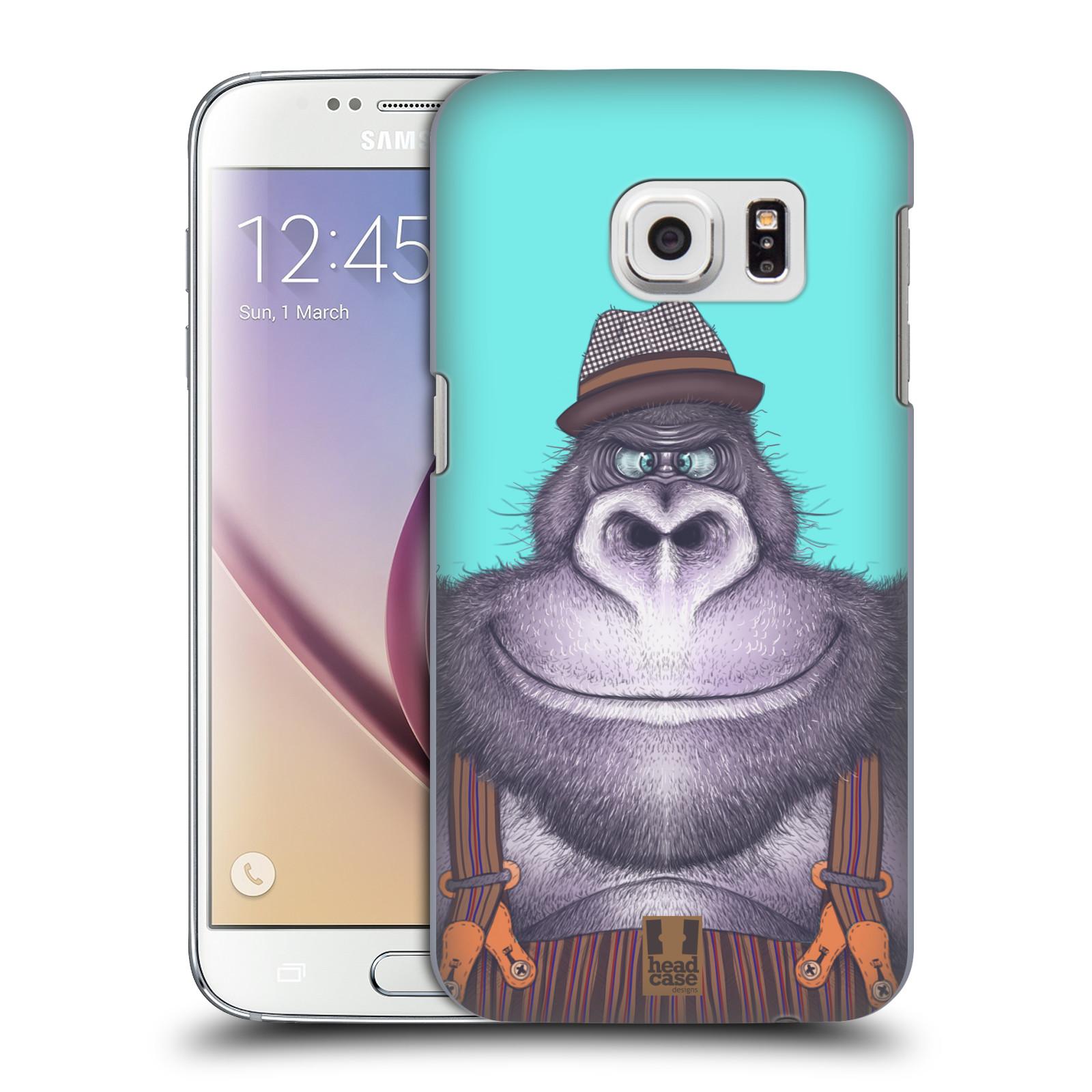 HEAD CASE plastový obal na mobil SAMSUNG GALAXY S7 vzor Kreslená zvířátka gorila