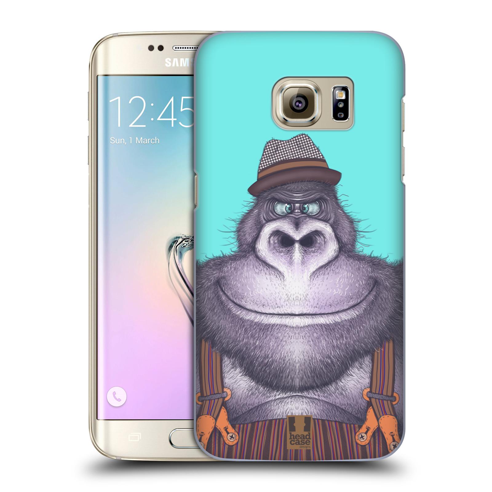 HEAD CASE plastový obal na mobil SAMSUNG GALAXY S7 EDGE vzor Kreslená zvířátka gorila