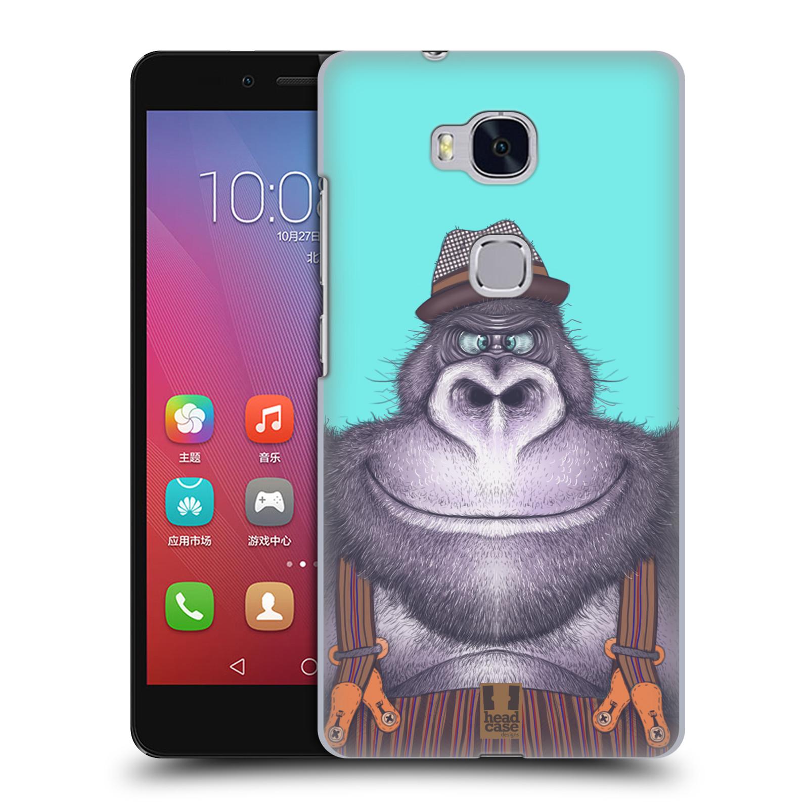 HEAD CASE pevný plastový obal na mobil HUAWEI HONOR 5X vzor Kreslená zvířátka gorila