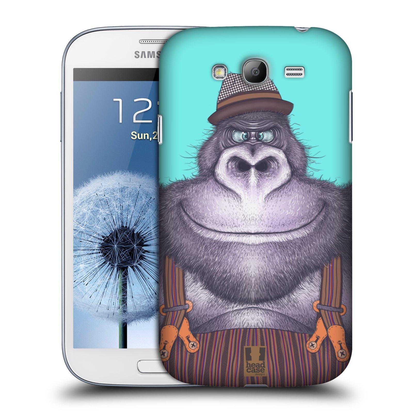 HEAD CASE plastový obal na mobil SAMSUNG GALAXY Grand i9080 vzor Kreslená zvířátka gorila