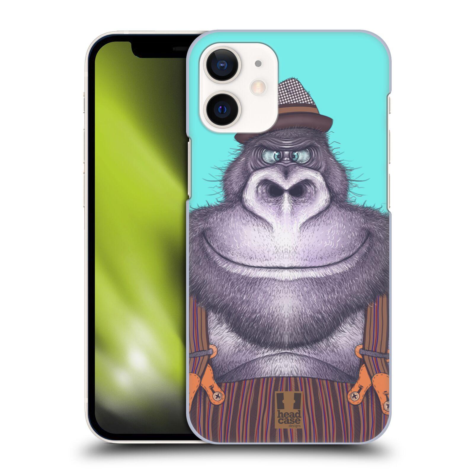 Plastový obal na mobil Apple Iphone 12 MINI vzor Kreslená zvířátka gorila