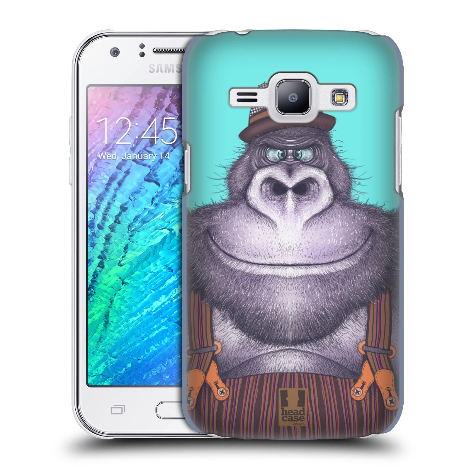 HEAD CASE plastový obal na mobil SAMSUNG Galaxy J1, J100 vzor Kreslená zvířátka gorila