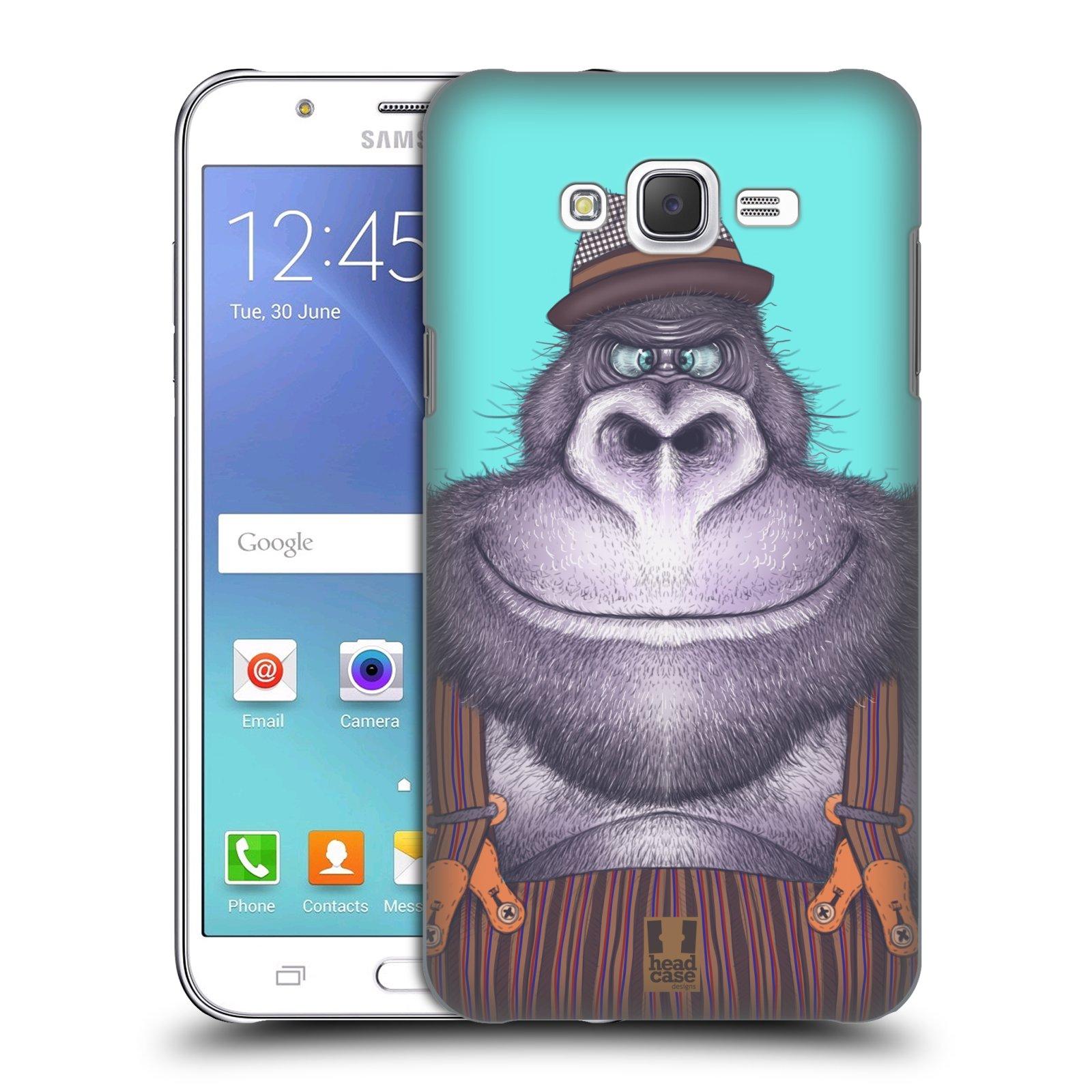 HEAD CASE plastový obal na mobil SAMSUNG Galaxy J7, J700 vzor Kreslená zvířátka gorila