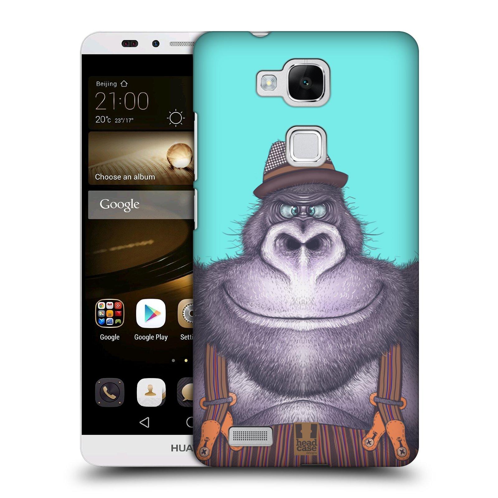 HEAD CASE plastový obal na mobil Huawei Mate 7 vzor Kreslená zvířátka gorila