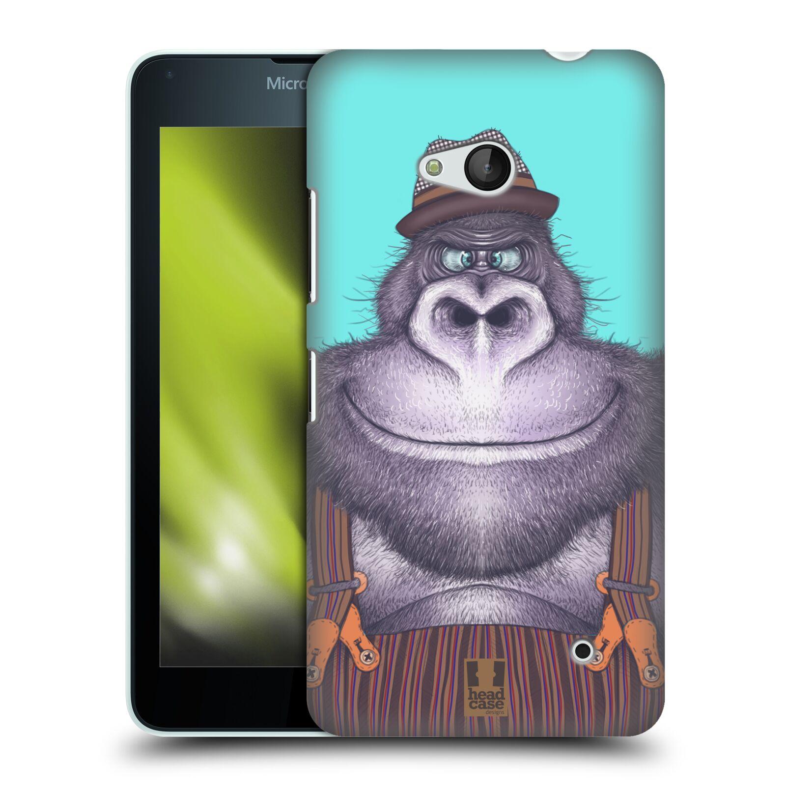 HEAD CASE plastový obal na mobil Nokia Lumia 640 vzor Kreslená zvířátka gorila