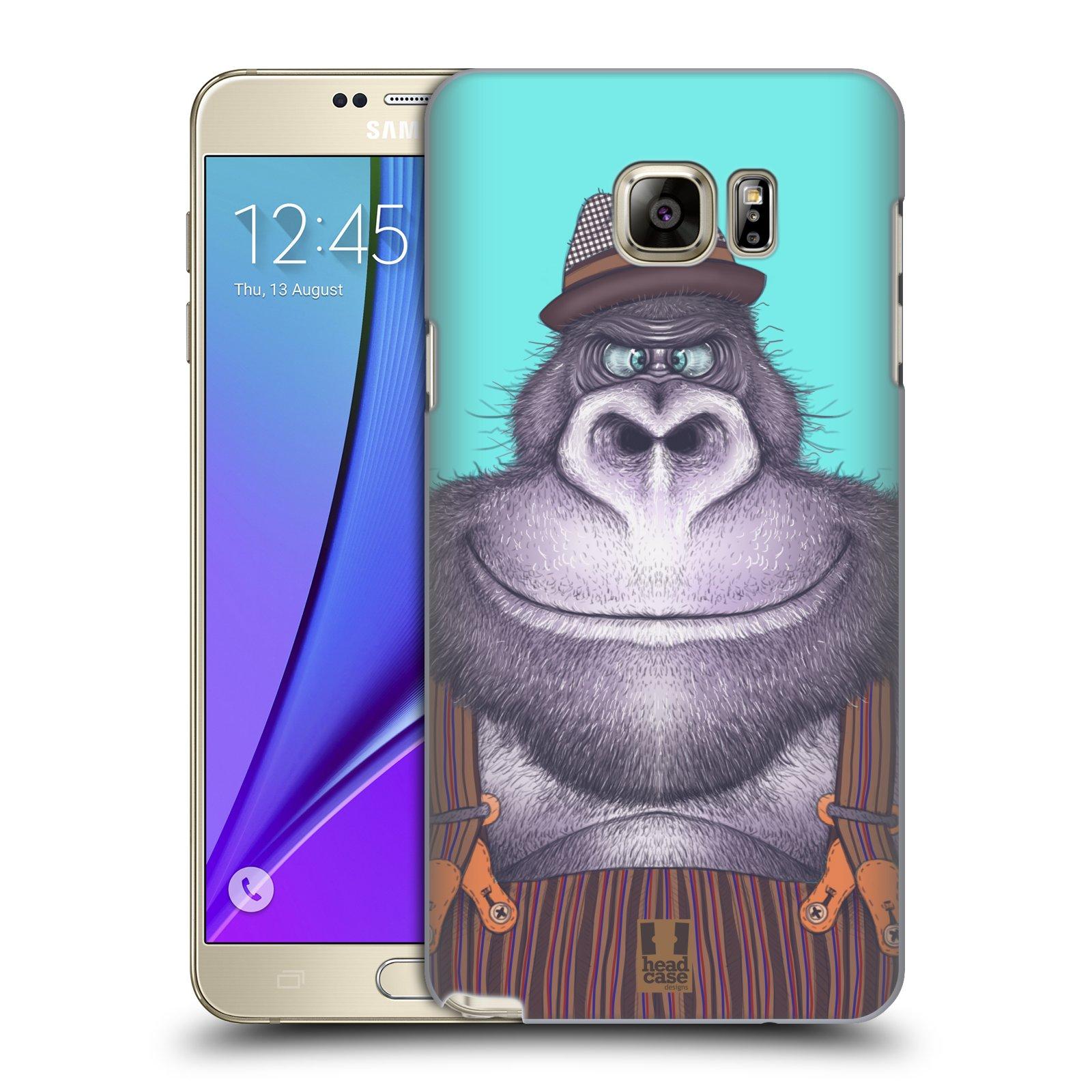 HEAD CASE plastový obal na mobil SAMSUNG Galaxy Note 5 (N920) vzor Kreslená zvířátka gorila