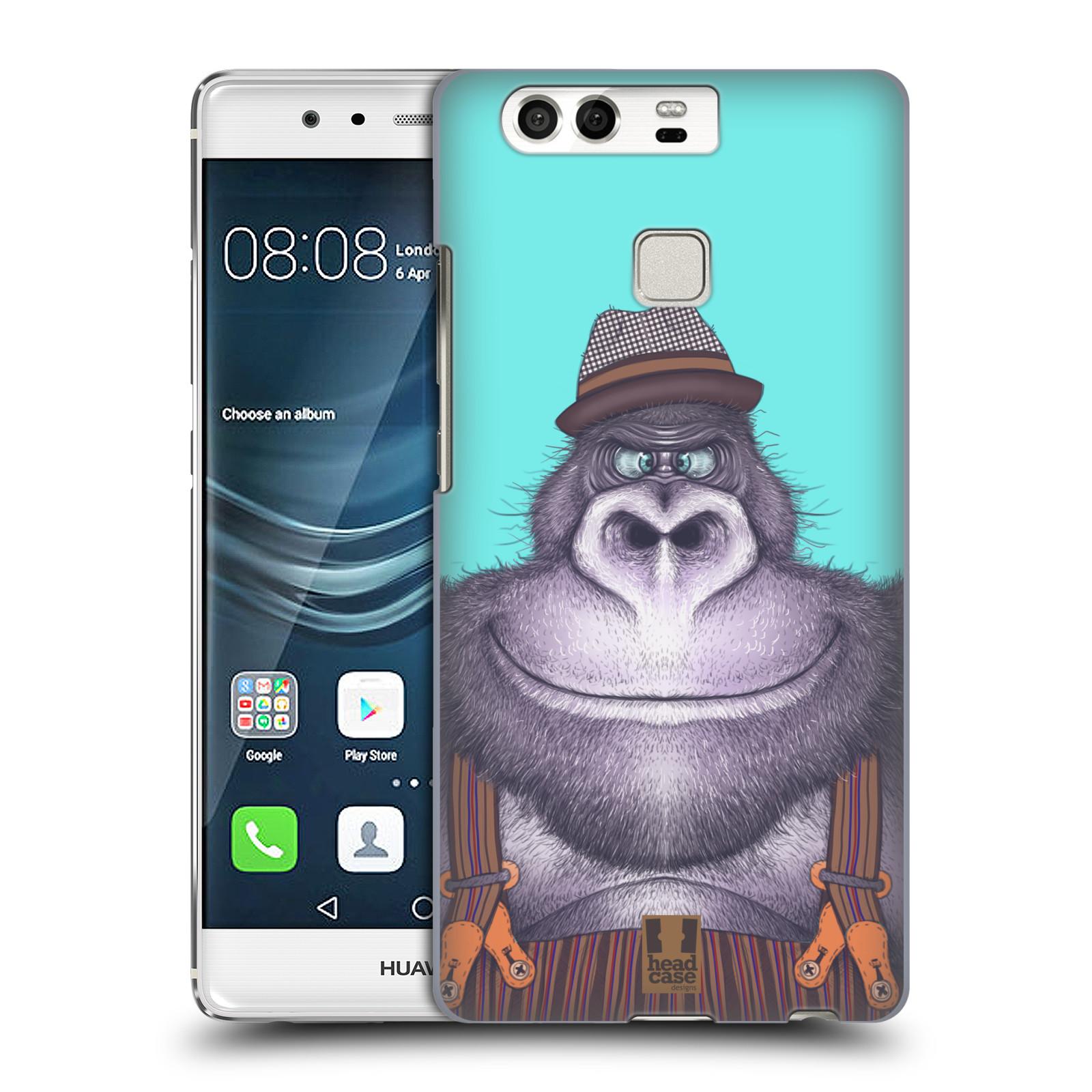 HEAD CASE plastový obal na mobil Huawei P9 / P9 DUAL SIM vzor Kreslená zvířátka gorila