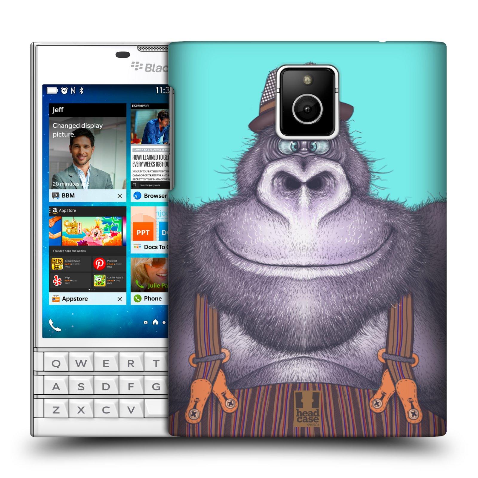 HEAD CASE plastový obal na mobil BlackBerry Passport vzor Kreslená zvířátka gorila