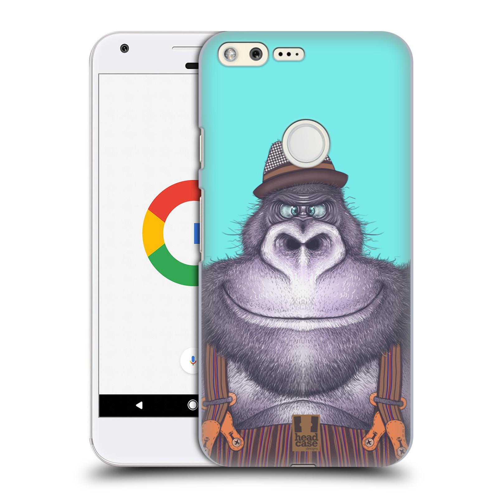 HEAD CASE plastový obal na mobil GOOGLE Pixel vzor Kreslená zvířátka gorila