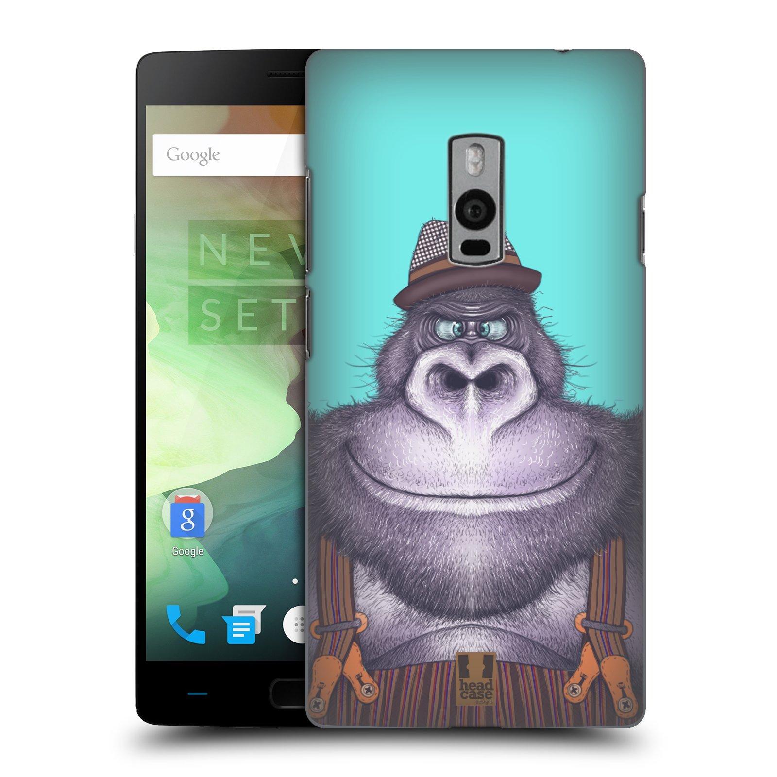 HEAD CASE pevný plastový obal na mobil OnePlus 2  ( TWO ) vzor Kreslená zvířátka gorila