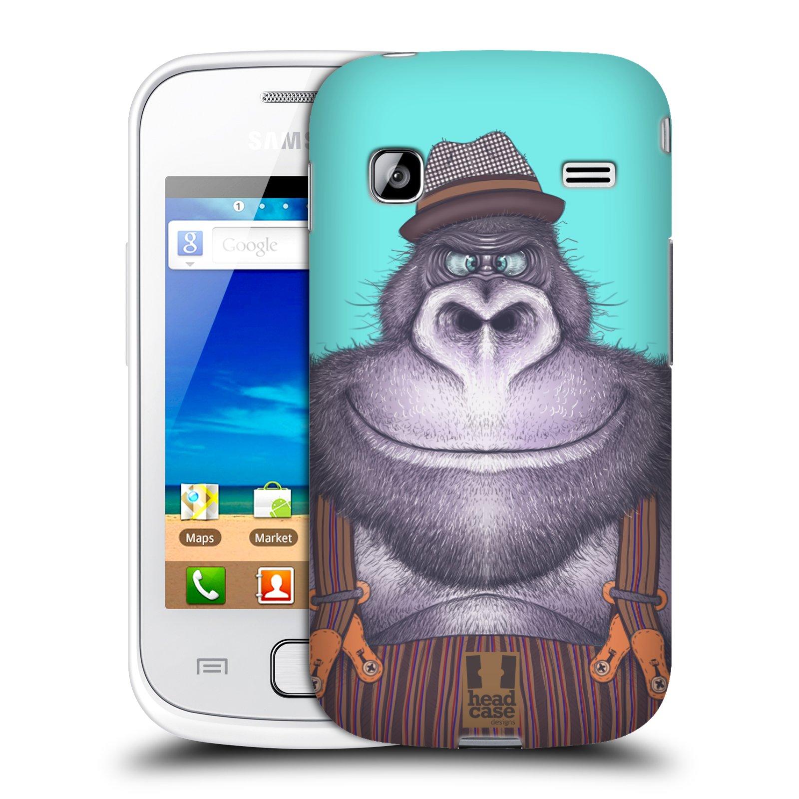 HEAD CASE plastový obal na mobil SAMSUNG GALAXY GIO (S5660) vzor Kreslená zvířátka gorila
