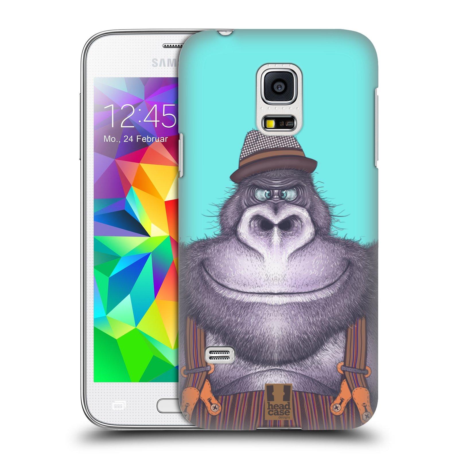 HEAD CASE plastový obal na mobil SAMSUNG Galaxy S5 MINI / S5 MINI DUOS vzor Kreslená zvířátka gorila