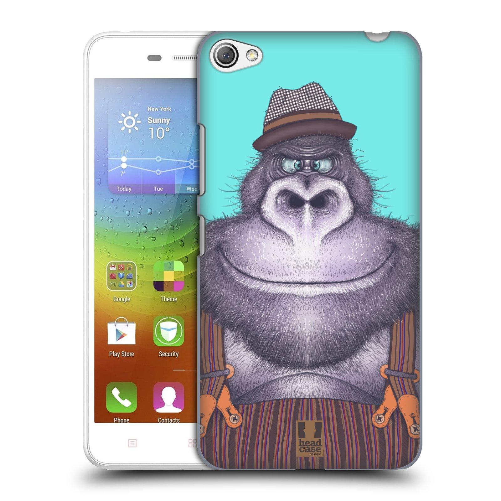 HEAD CASE pevný plastový obal na mobil LENOVO S60 / LENOVO S60 DUAL SIM vzor Kreslená zvířátka gorila