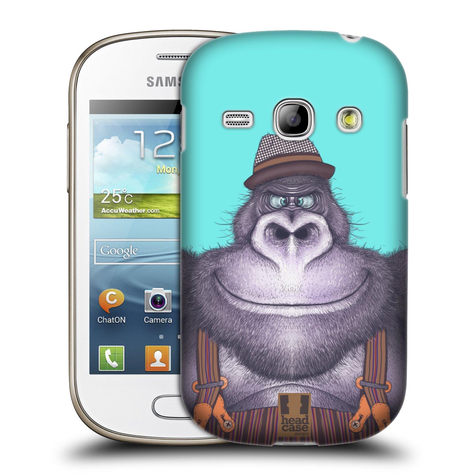 HEAD CASE plastový obal na mobil SAMSUNG GALAXY FAME (S6810) vzor Kreslená zvířátka gorila