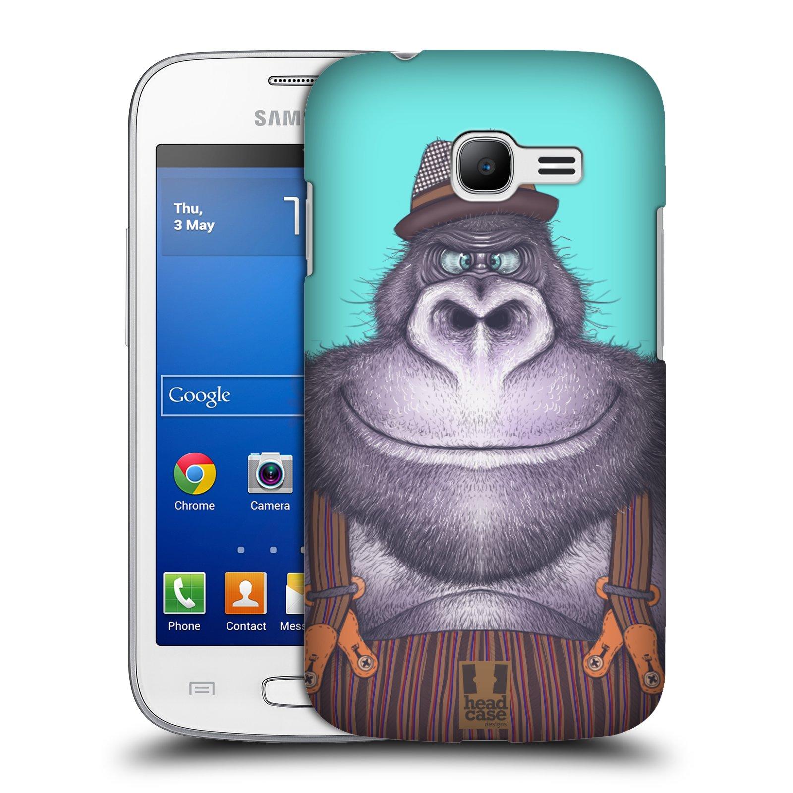 HEAD CASE plastový obal na mobil SAMSUNG GALAXY Star Pro S7260/S7262 DUOS vzor Kreslená zvířátka gorila