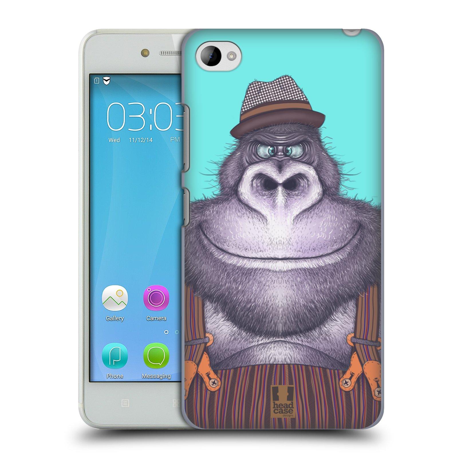 HEAD CASE pevný plastový obal na mobil LENOVO S90 vzor Kreslená zvířátka gorila