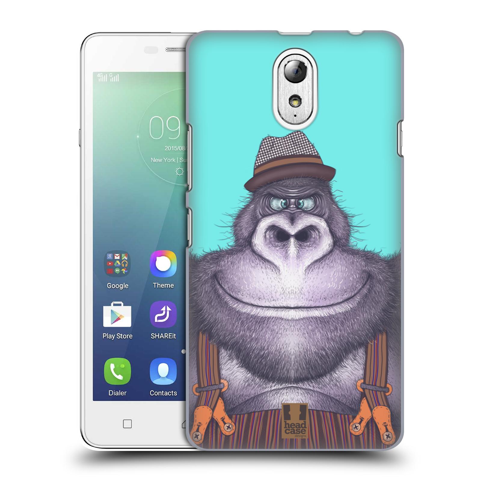 HEAD CASE pevný plastový obal na mobil LENOVO VIBE P1m / LENOVO VIBE p1m DUAL SIM vzor Kreslená zvířátka gorila
