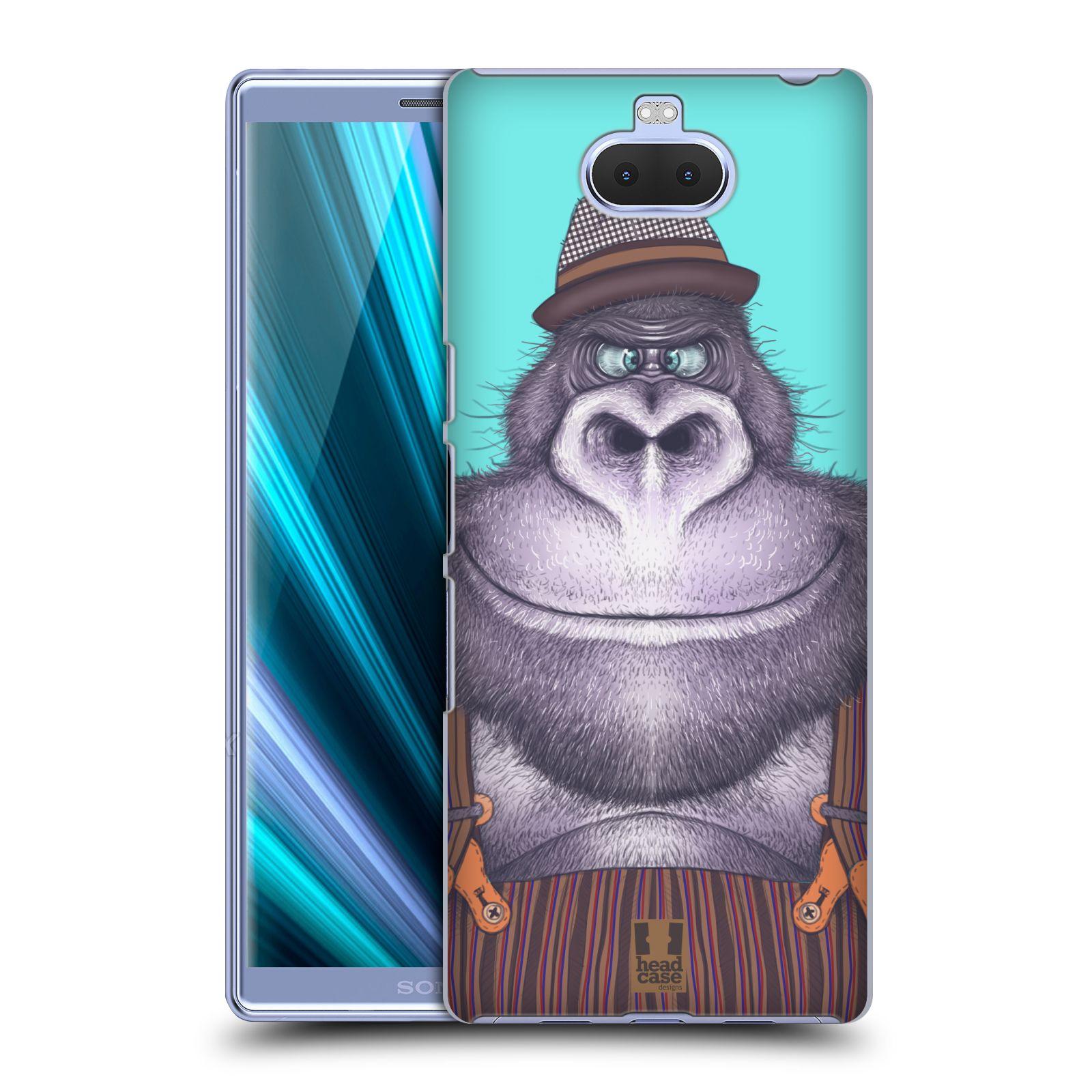 Pouzdro na mobil Sony Xperia 10 - Head Case - vzor Kreslená zvířátka gorila
