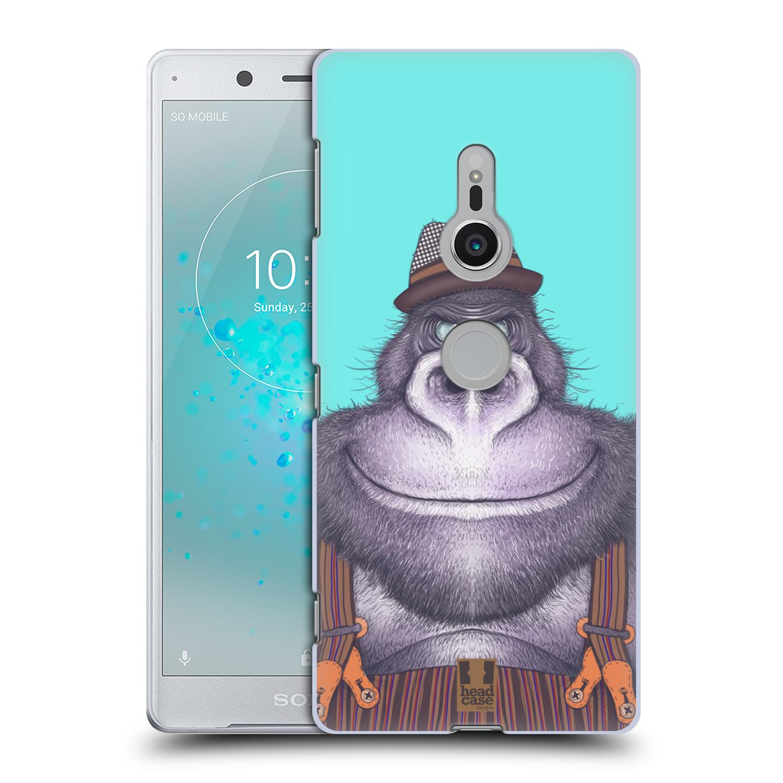 HEAD CASE plastový obal na mobil Sony Xperia XZ2 vzor Kreslená zvířátka gorila
