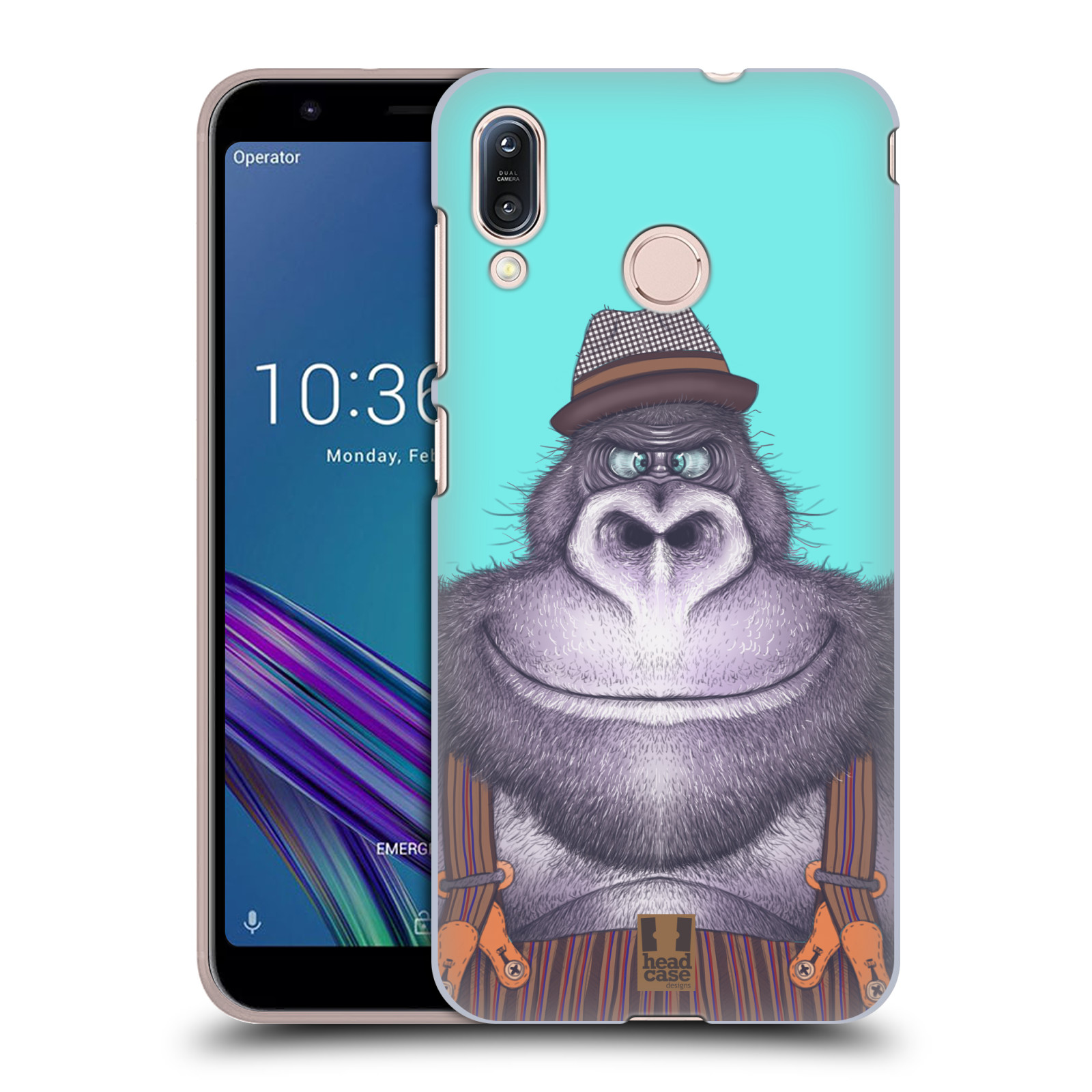 Pouzdro na mobil Asus Zenfone Max M1 (ZB555KL) - HEAD CASE - vzor Kreslená zvířátka gorila