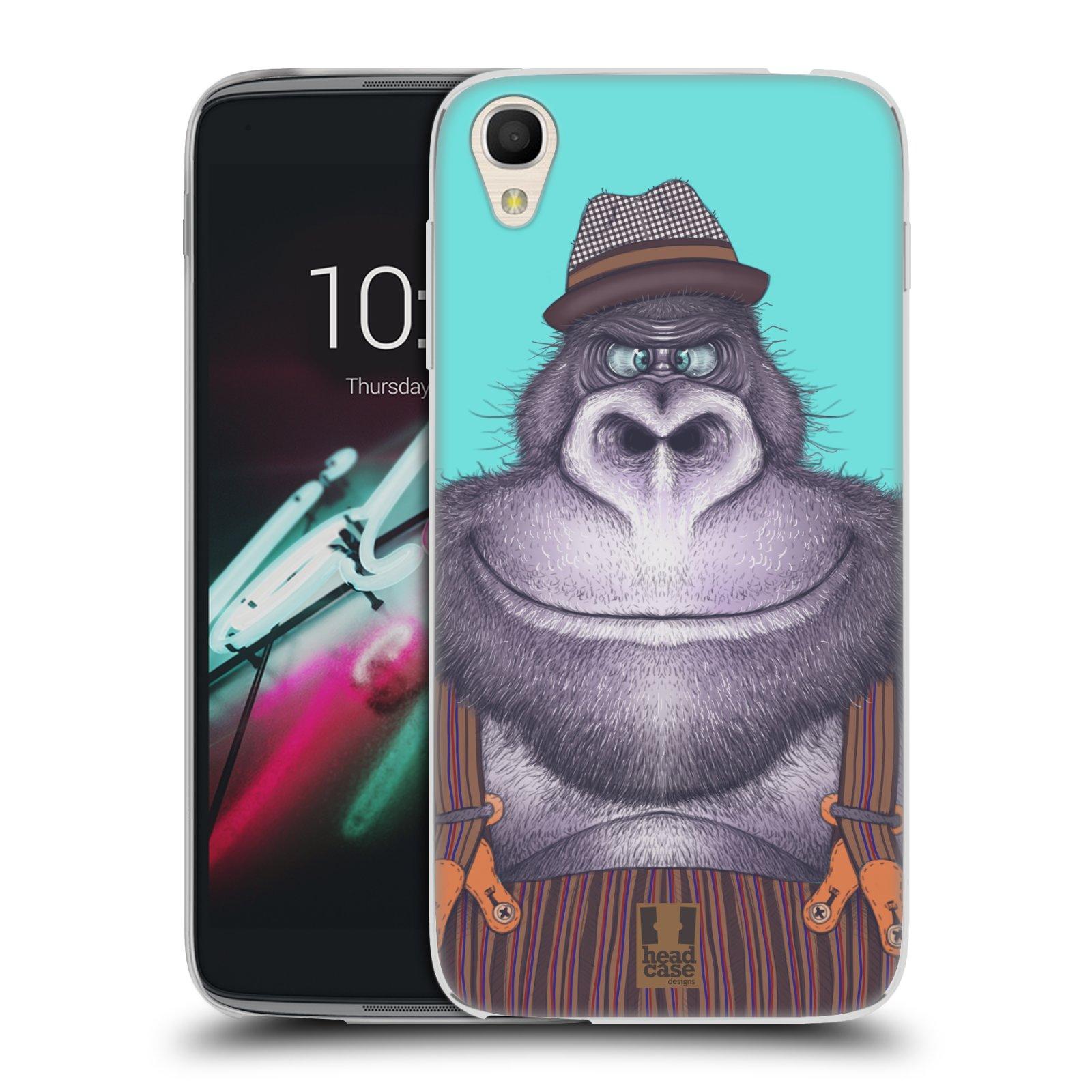 HEAD CASE silikonový obal na mobil Alcatel Idol 3 OT-6039Y (4.7) vzor Kreslená zvířátka gorila